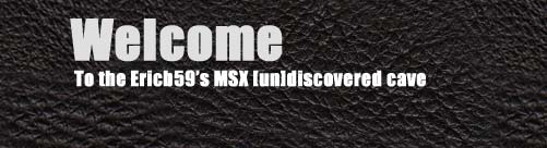 MSX undiscovered cave. MSX annd Retrogaming ressources